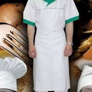 Колпаки, фартуки, пилотки. Фартук повара. Ткань Tootal, (пр-во Голландии). Цвет – белый. Колпак повара. Ткань – саржа (100% х/б). Цвет – белый. фото
