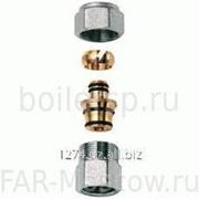 """Переходник 1"""" ВР - концовка для металлопластиковых труб 20х2, хромированный, артикул FC 5061 1 80204 фото"""