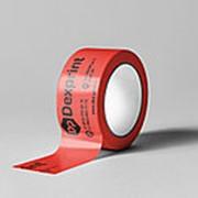 Скотч с логотипом, красный, в 1 цвет фото