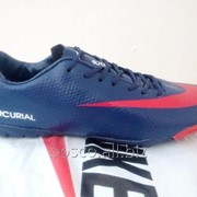 Футбольные сороконожки Nike Mercurial Victory IV Turf Blue/White/Red фото
