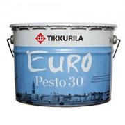 Tikkurila Euro Pesto 30, эмаль алкидная для внутренних работ полуматовая (База А), 9 л. фото