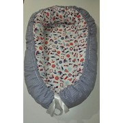 Гнездо-кокон для новорожденных на заказ Морское фото