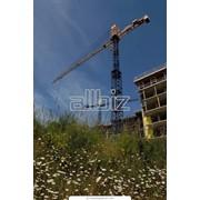 Монтаж и наладка башенных кранов фото