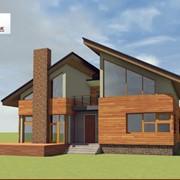 Дом с террасой, проект 5 фото