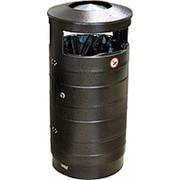 Урна для мусора с дверцей уличная 440х800 мм фото