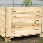 Деревянные контейнеры для хранения плодоовощной продукции фото