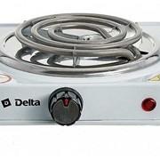 Плитка электрическая DELTA D-703 одноконфорочная спираль, белая фото