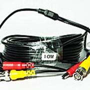 Кабель для системы видеонаблюдения BNC+DC 10 м фото