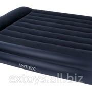 66718 Intex Надувная двухспальная кровать со встроенным электронасосом 220V 152х203х56см фото