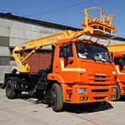 Автовышка АПТ-18 на шасси КамАЗ-43253 Автогидроподъемник фото