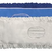 Тряпка для швабры из микрофибры, влажная уборка Microfiber Blue Mop 40cm,580 gsm with pocket фото