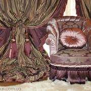 Чехлы для мебели, пуфики, палантины, эксклюзивные предметы интерьера из ткани. фото