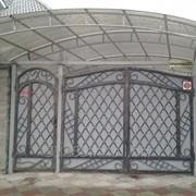 Ворота из металла А00902 фото