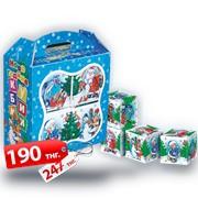 "Коробка новогодняя ""Новогодние кубики"" фото"
