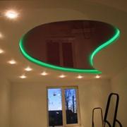 Монтаж подсветки потолков, декоративная подсветка потолка фото