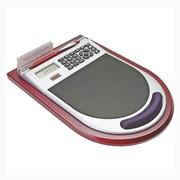 Коврик для мыши с калькулятором на деревянной подставке фото