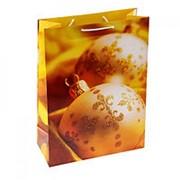 """Пакет подарочный """"Золотые украшения"""" 11см х 14см"""