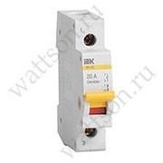 Выключатель нагрузки и Разъединитель IEK Выключатель нагрузки (мини-рубильник) ВН-32 1Р 40А фото