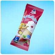 Мороженое Пустунчик. Чизкейк-малина. Молочный десерт фото