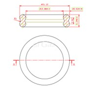 Кольцо резиновое уплотнитель двойное, 21,12*2,62*5,24 мм FB фото
