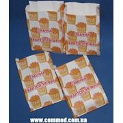 Упаковка бумажная для Картофеля Фри 170 х 100 х 50 мм с рисунком арт. 7.256 1000 шт. фото