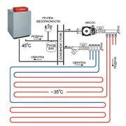 Монтаж систем отопления, теплый пол электро-водяной. фото