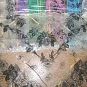 Платок органза с велюром оптом фото