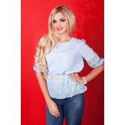 Блуза ажурная 8302 фото