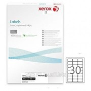 Наклейки Xerox, A4 формат, размер 99*38 мм. В упаковке 100 листов фото