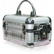 Алюминиевый кейс органайзер для косметики и украшений фото