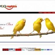Создание корпоративного сайта для компании A.K.Graphics фото