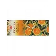 Благовония HEM, шестигранники, Vanilla - Orange (Ваниль - Апельсин), 20 палочек фото