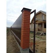 Строительство забора,металлоконструкции, откатные ворота фото
