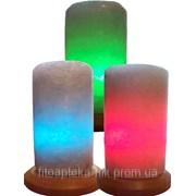 Солевая лампа Цилиндр Свеча малая 2-3 кг фото