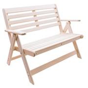 Деревянная скамья с подлокотниками Аника фото