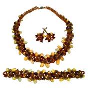 Колье, браслет и серьги из янтаря 10973nbe-aw фото