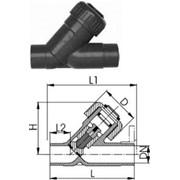 Угловой обратный клапан тип 303, PVC-UС патрубками для клеевого соединения, метрическими фото