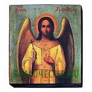 Мастерская старинной иконы Ангел Хранитель, копия старой иконы, печать на дереве Высота иконы 13 см фото