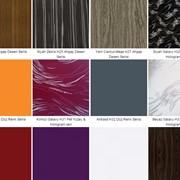 Мебельные фасады из высокоглянцевых плит МДФ с ПВХ покрытием + UF-лак. фото