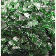 Стеклянная крошка, зеленый хром COE 82, средний, 1000 гр фото