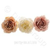 Декор Роза на клипсе d14см 3 фото