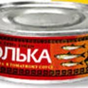 Консерва рыбная Тюлька н/р в томатном соусе 230 гр. фото