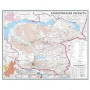 Карта областная Алматинская, масштаб 1:1 000 000, 630*790 мм, ламинированная фото