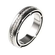 Кольцо обручальное вес 8.39гр, вставки: бриллианты 57 Кр 57-0.684ct 2/2,цвет белый родированный, артикул DM 02 фото