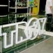 Услуги по изготовлению стеклоизделий с Вашим логотипом, слоганом. фото