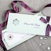 Разработка дизайна элегантных свадебных приглашений фото