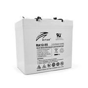 Аккумуляторная батарея AGM RITAR RA12-55, Gray Case, 12V 55.0Ah ( 229 x 138 x 211 (216) ) Q1 фото