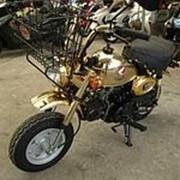 Мопед мокик Honda Monkey Limited рама Z50J гв 1996 корзина и задний багажник пробег 4 т.км золотистый фото