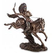 Скульптура Индеец на коне 30х29х10,5см. арт.WS-441 Veronese фото