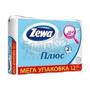 Tуалетная бумага Zewa плюс белая 12 шт 1 уп 78105 фото